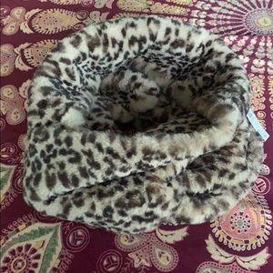 LOFT Leopard Print Faux Fur Infinity Scarf, NWT
